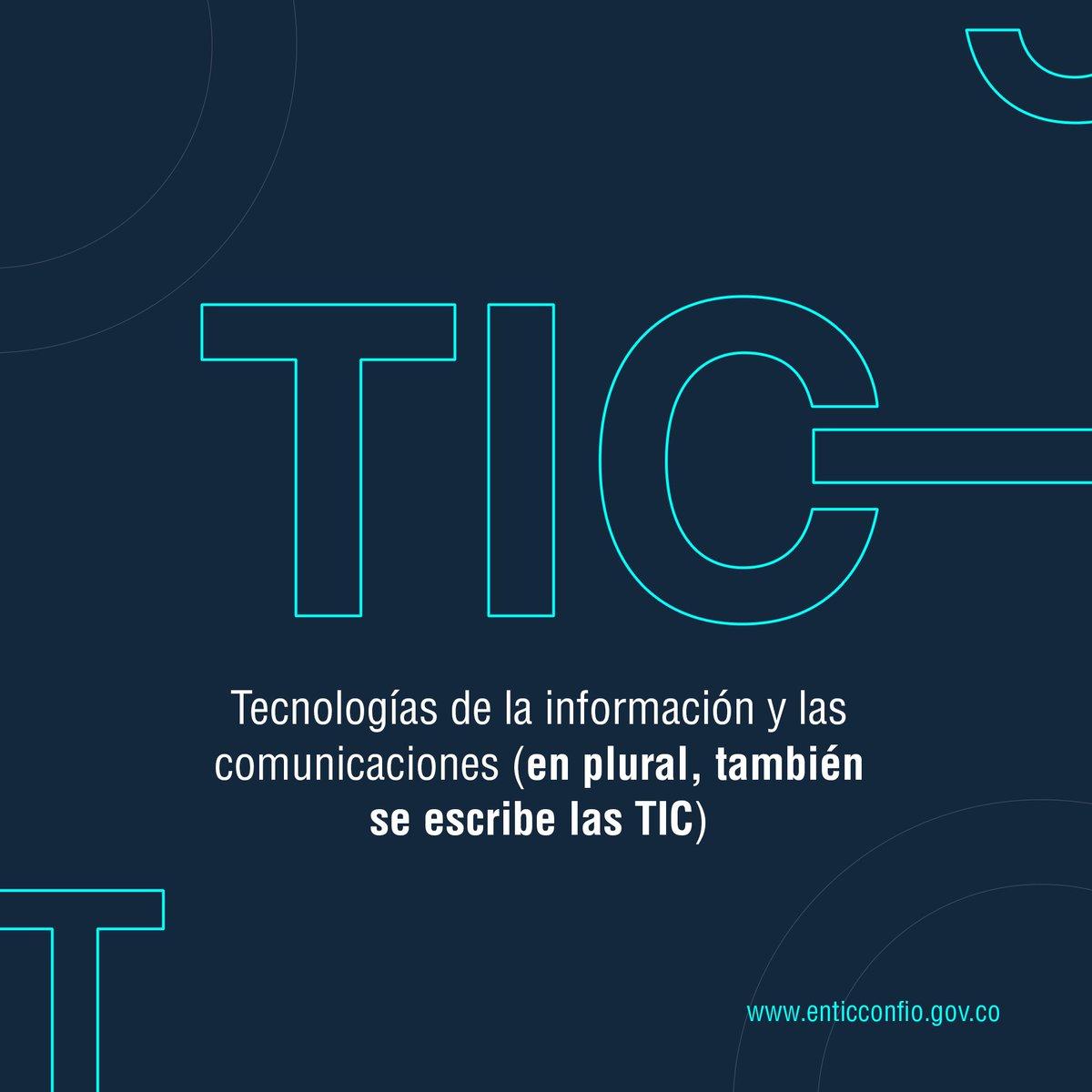 """Gobierno Digital على تويتر: """"Muchas veces nos preguntan qué significa la  sigla TIC. Aquí está la respuesta… """""""