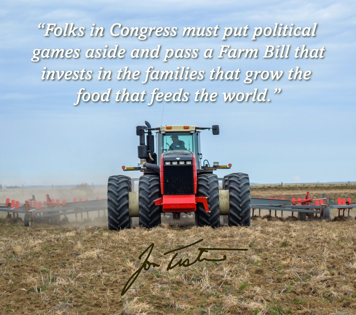 Today, @SenateAg passed the 2018 #FarmBill. As the Senate's only working farmer, I know how important this is to families who make a living off the land & I'll be working to ensure their feedback is reflected in this legislation as it's debated on the . @SenateFloor#mtpol
