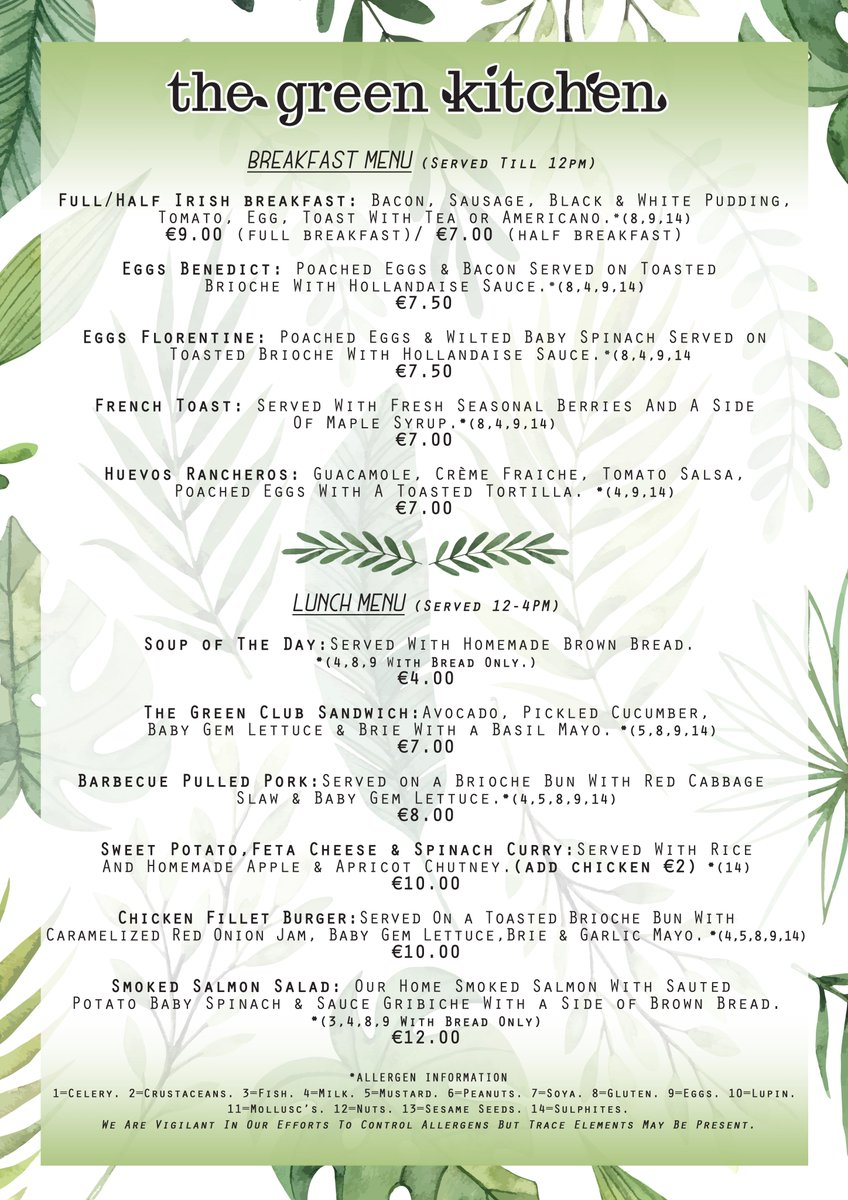 The Green Kitchen Garden Shop Auf Twitter Our Green Kitchen Menu Just Had A Design Makeover And We Love It Not Only Does Our Menu List Our Delicious Food But It