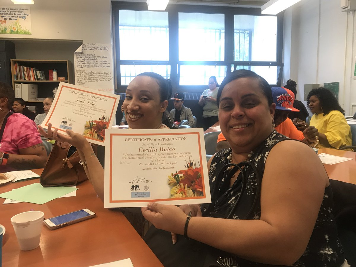 Congrats to our MSTA parents for being awarded certificates at the final CEC breakfast for the 2017-2018 school year! 🙌🏽 we appreciate our parents! #MSTA @MSTAPrincipal @MSTA1PC @MSTAPrincipal