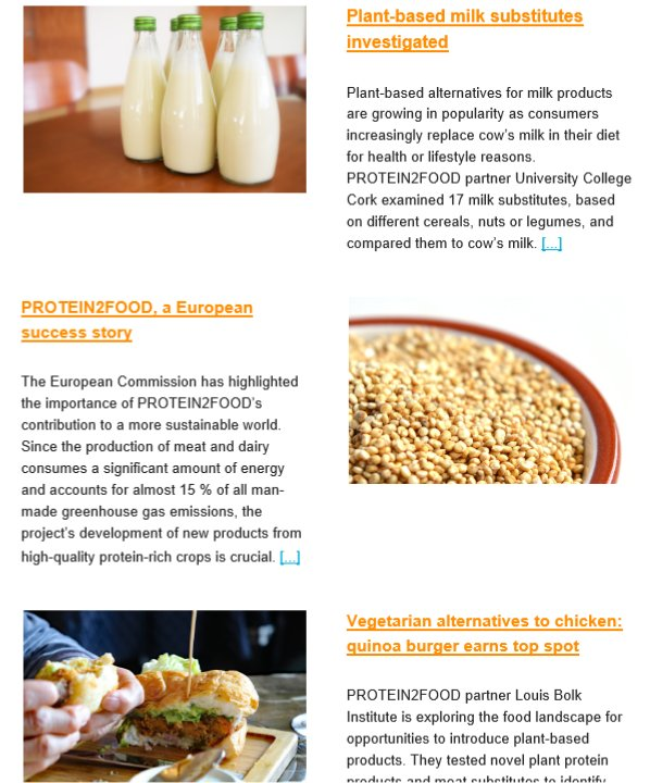 Eu Food Health On Twitter The Fourth Protein2food Newsletter Is