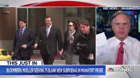 JUST IN: Robert Mueller requests 75 blank subpoenas in Paul Manafort trial – @PeteWilliamsNBC