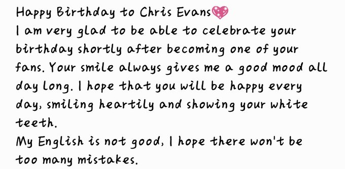 Happy Birthday to Chris Evans