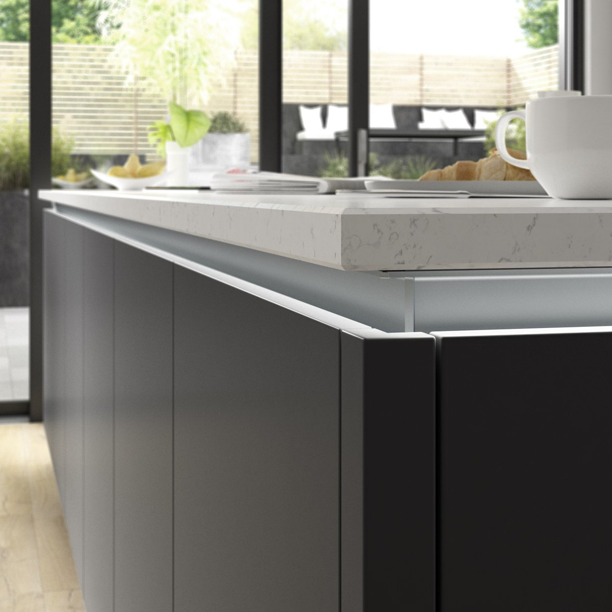 Benchmarx Kitchens Joinery On Twitter Our True Handleless Designs Are Perfect For Under Counter Led Feature Lighting This Can Also Be Combined With Our 12mm Zenith Compact Laminate Worktops For An