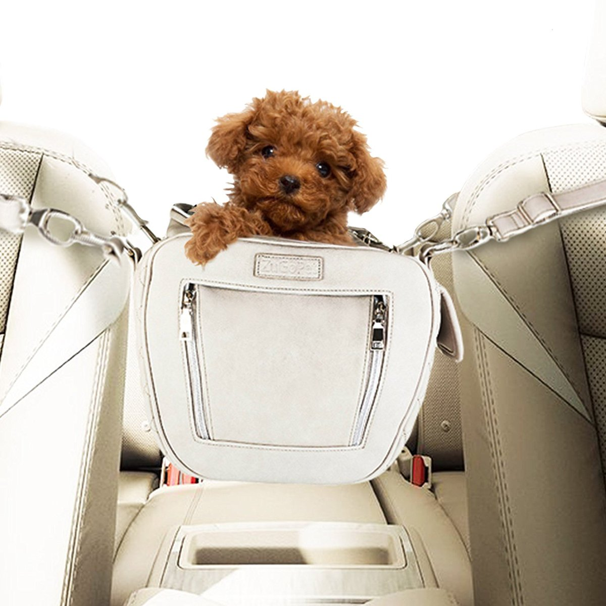 As A Dog Car Seat That Goes Directly In Between The Front Driver And Passenger Smalldogs Vegan Dachshund Goldendoodie