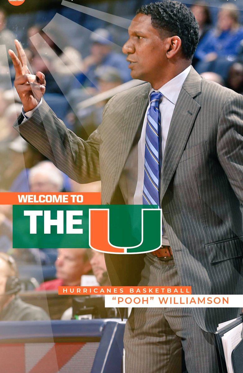 Welcome @CoachPooh11 and his family to Coral Gables!! Let's get to work @CanesHoops !!! #TheU