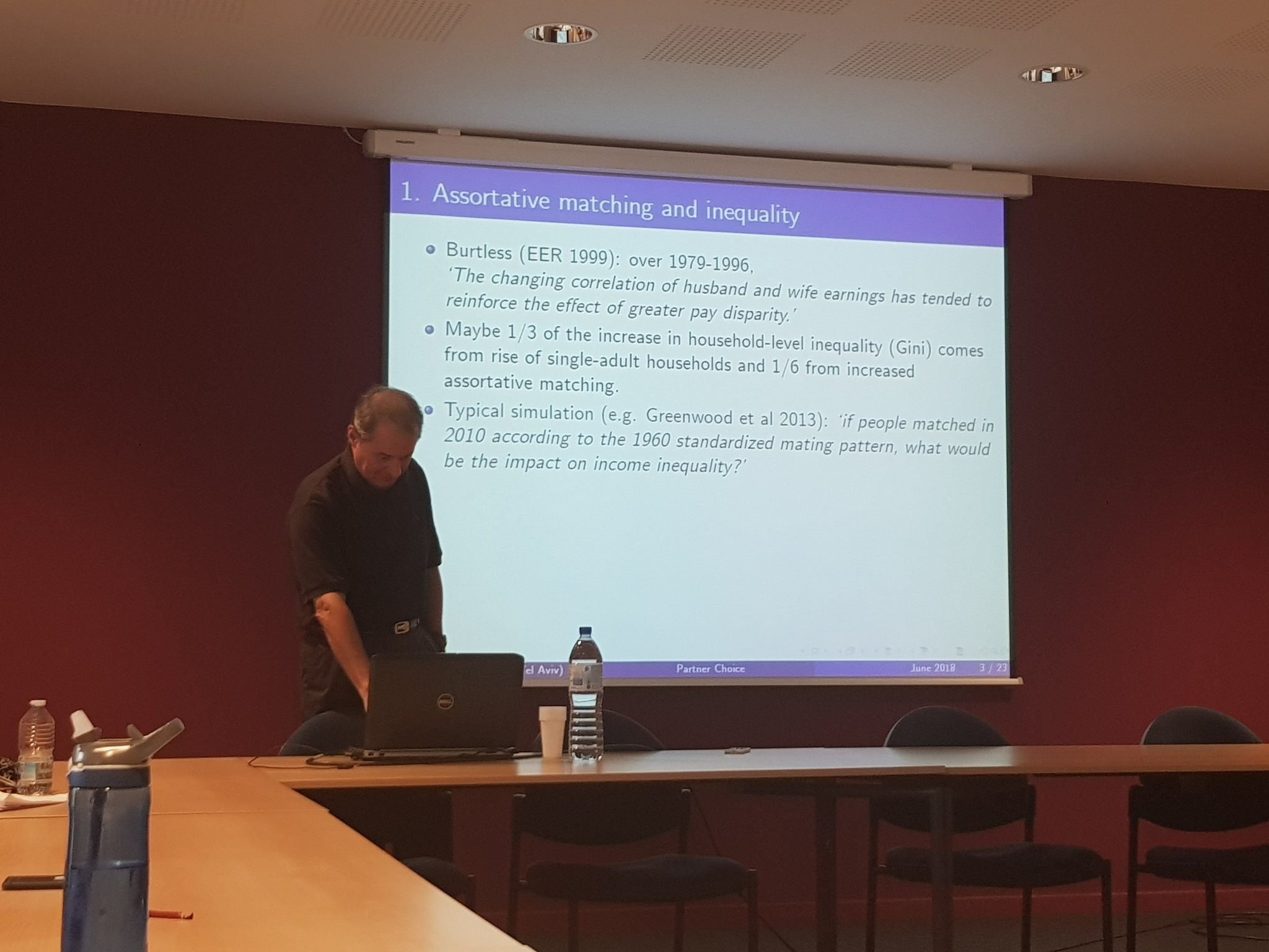 Pierre André Chiappori at ARC workshop on 'Marriages, Human Capital and the Macroeconomy' @UCLouvain_be https://t.co/ZnxdJynrLJ