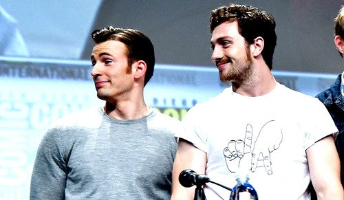 Happy birthday to Chris Evans and Aaron Taylor Johnson aaa