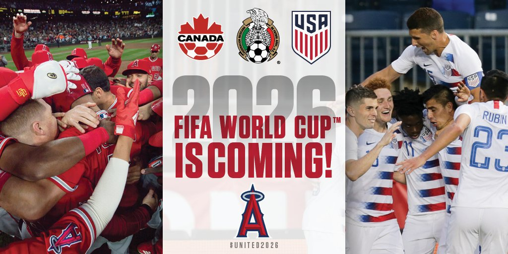 The 2026 World Cup is coming to North America and Los Angeles is a host city finalist!  #United2026 | #WorldCup https://t.co/IPIx4KVrjT