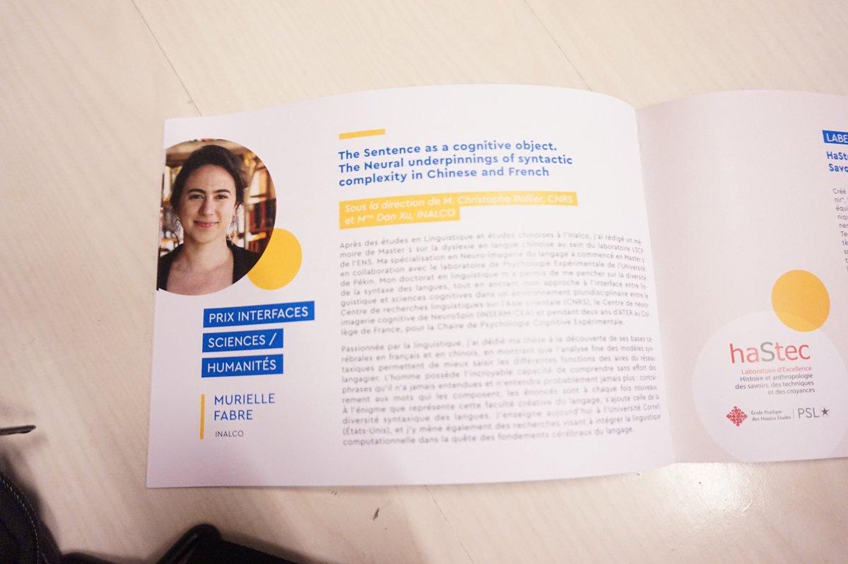 #PrixdeThesePSL Murielle Fabre, lauréate du Prix Interfaces Sciences / Humanités, s'intéresse à l\