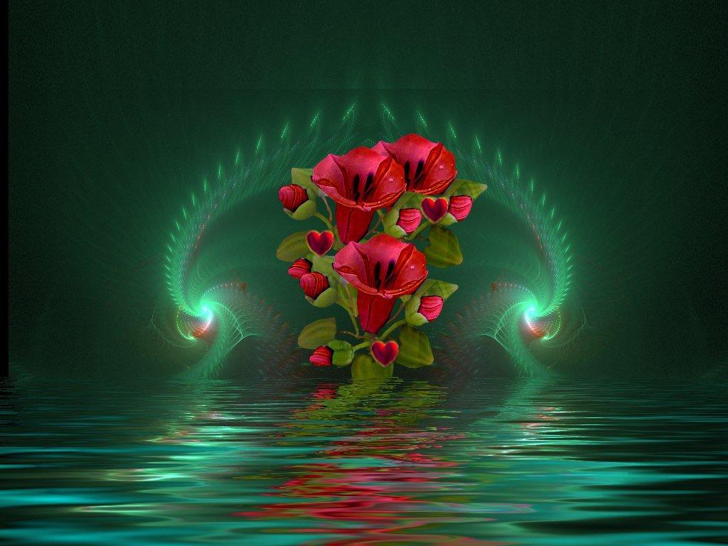 Картинки красивые живые цветы гифки