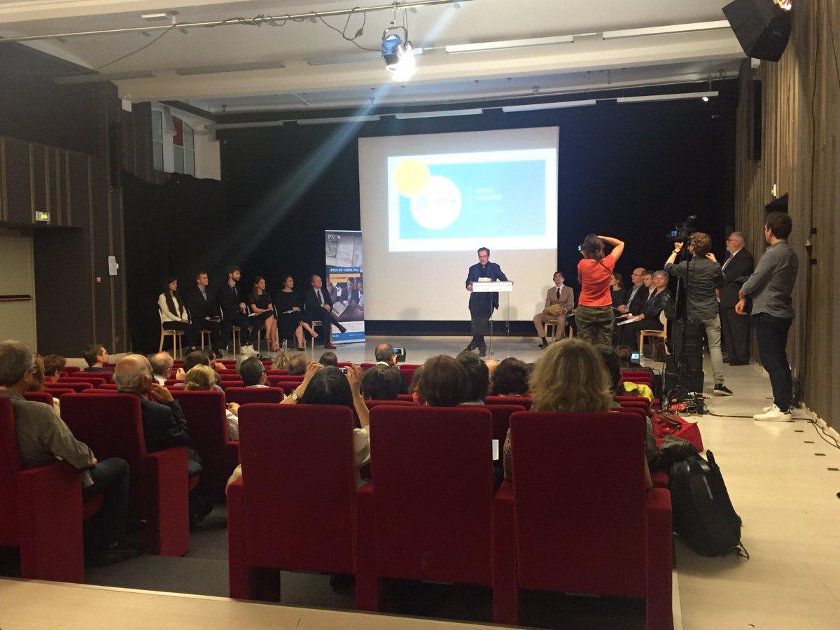 #PrixdeThesePSL @marc_mezard inaugure la première remise de thèse  en sciences humaines et sociales de @psl_univ.  - FestivalFocus
