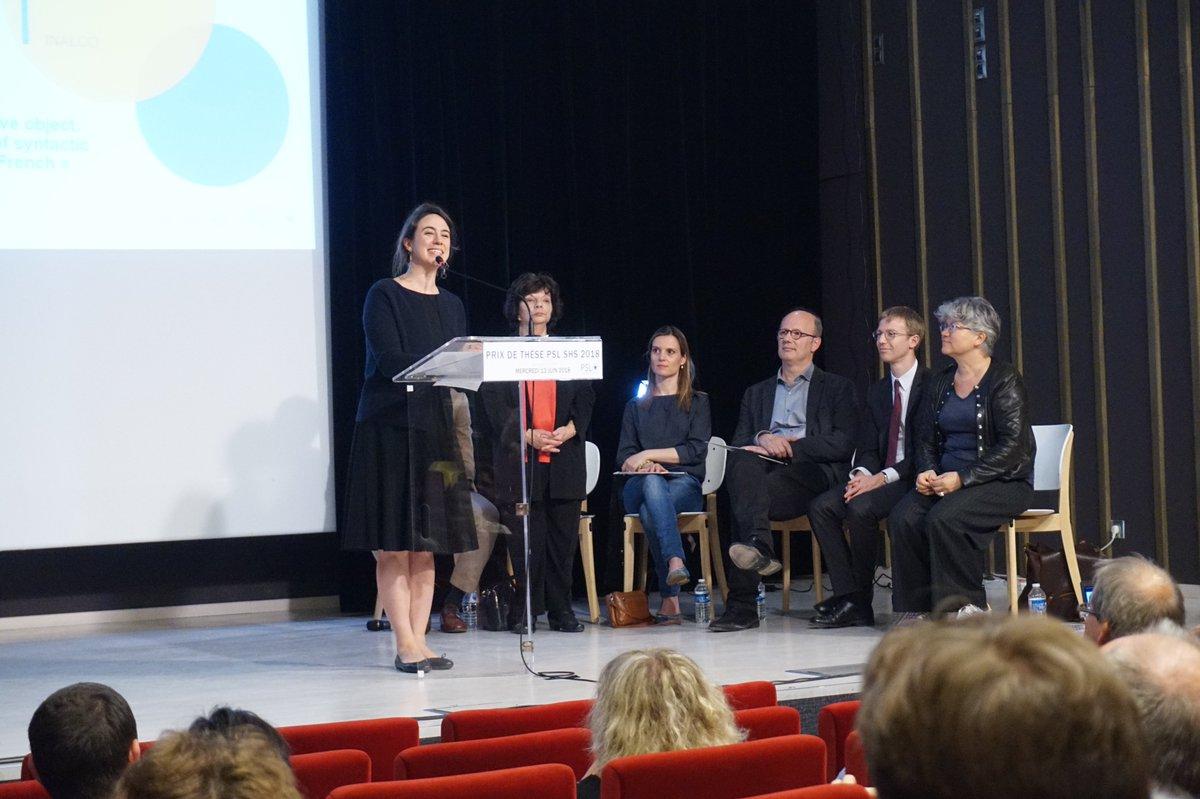 """#PrixdeThesePSL """"Je prends ce Prix pionnier comme une récompense à la liberté pluridisciplinaire !"""" Murielle Fabre, lauréate du Prix Interfaces Sciences / Humanités. Retrouvez tous les sujets de nos lauréats (et les mentions spéciales) : https://bit.ly/2t2pwt2  - FestivalFocus"""