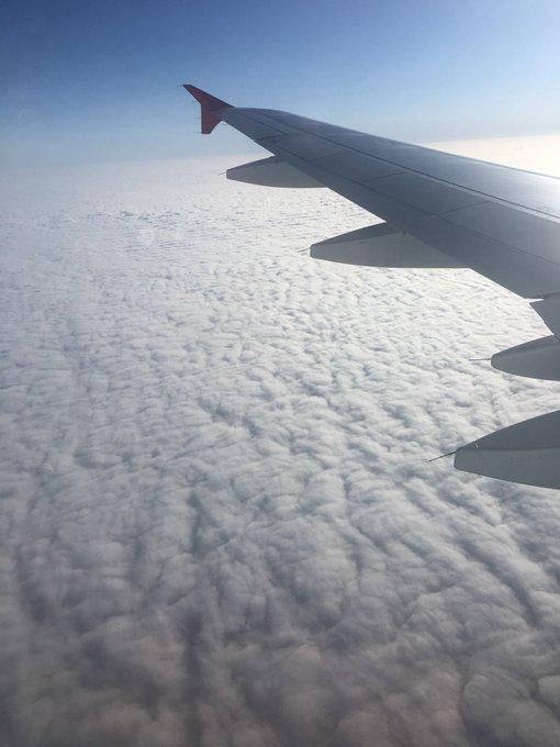 Irgendwo da drunter ist Berlin. Hallo, ich bin dann mal da. Morgen in der Früh gehts zum Pitch für den #DPOK! 😱 Foto