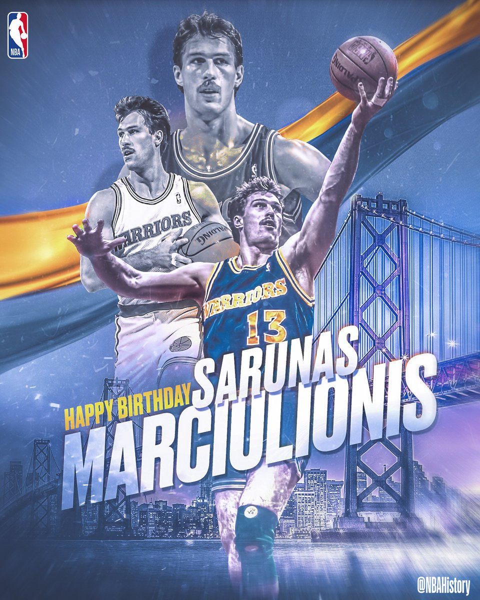 Happy 54th Birthday to Lithuanian legend and Hall of Famer, Sarunas Marciulionis! #NBABDAY