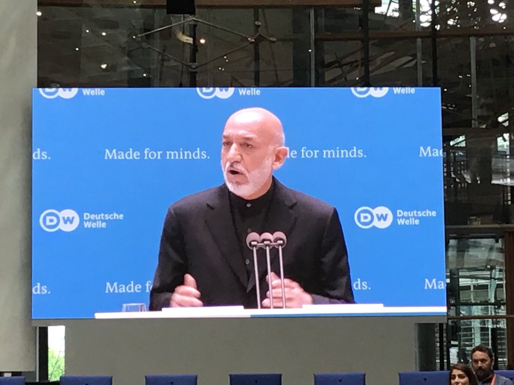If you have no empathy to human pain, the name of human you cannot retain. ~ @KarzaiH, former President of #Afghanistan at #DW_gmf in explaining the need to care each other without the need to limit oneself within borders. #Karzai #Bonn