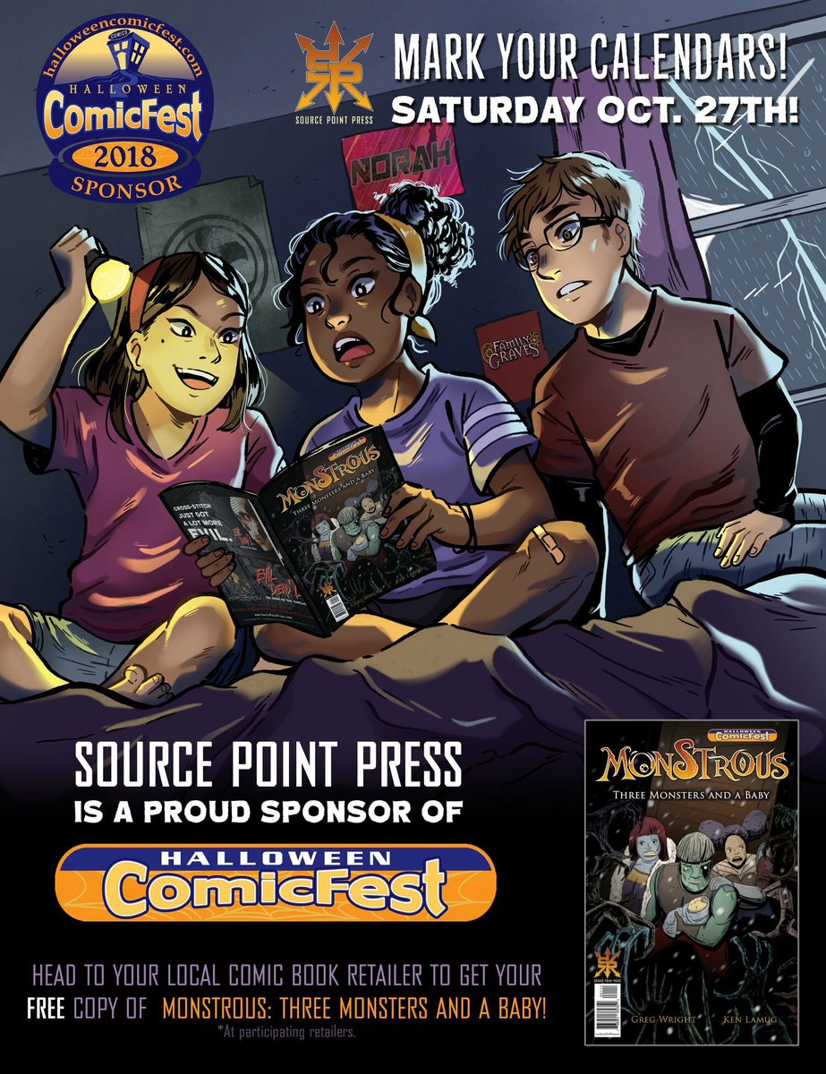 best of all were a sponsor of halloweencomicfest in comic shops everywhere you can get a free copy monstrous 3 monsters a babypictwittercom