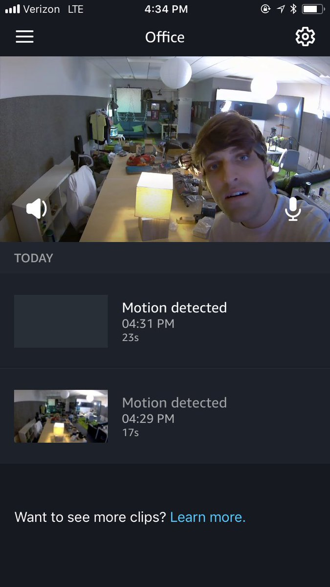Installed a security camera so I can talk to coworkers and monitor them