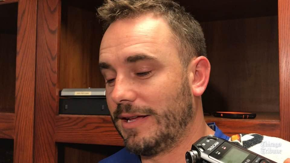 Cubs reliever Brian Duensing on playing left field: &#39;It was a little terrifying&#39;  http:// feed.iamcubsessed.com/QXCgCL  &nbsp;  <br>http://pic.twitter.com/Xxsrsn5TyM