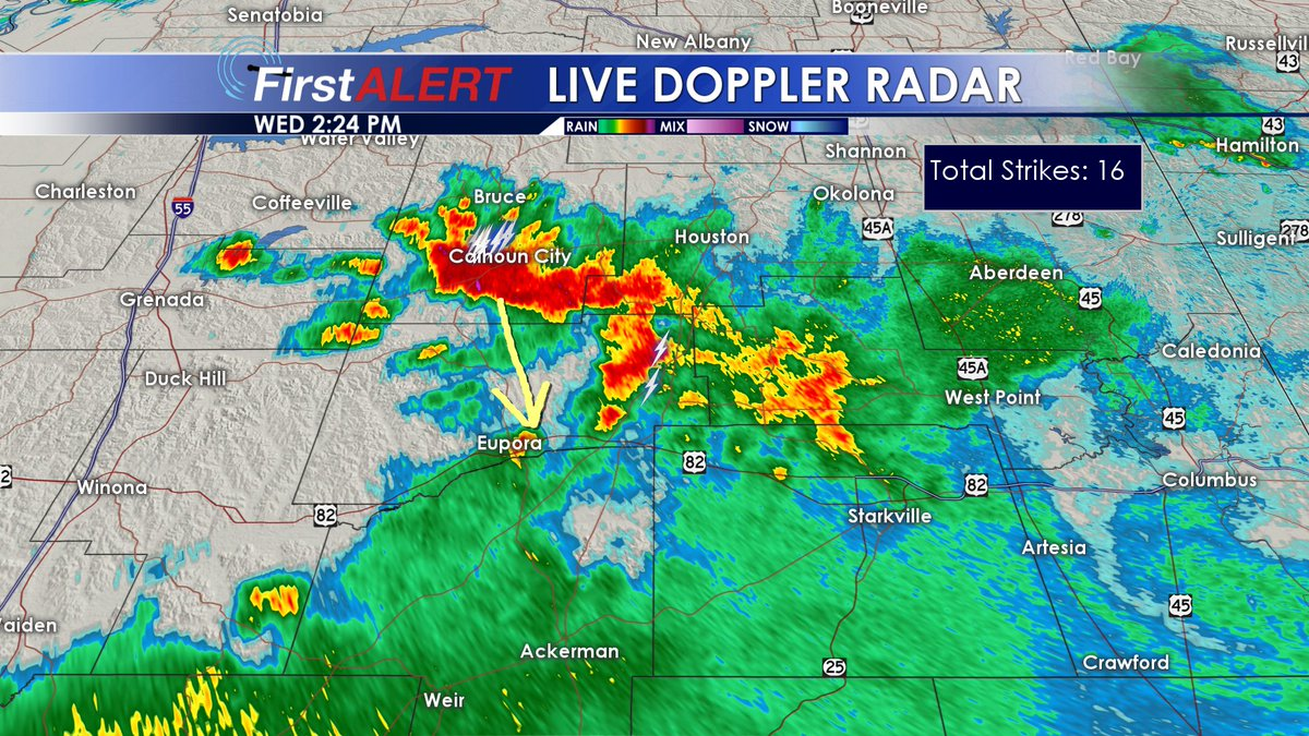 Wcbi Weather On Twitter 2 25 Pm Good Storm Cell Out Near Calhoun