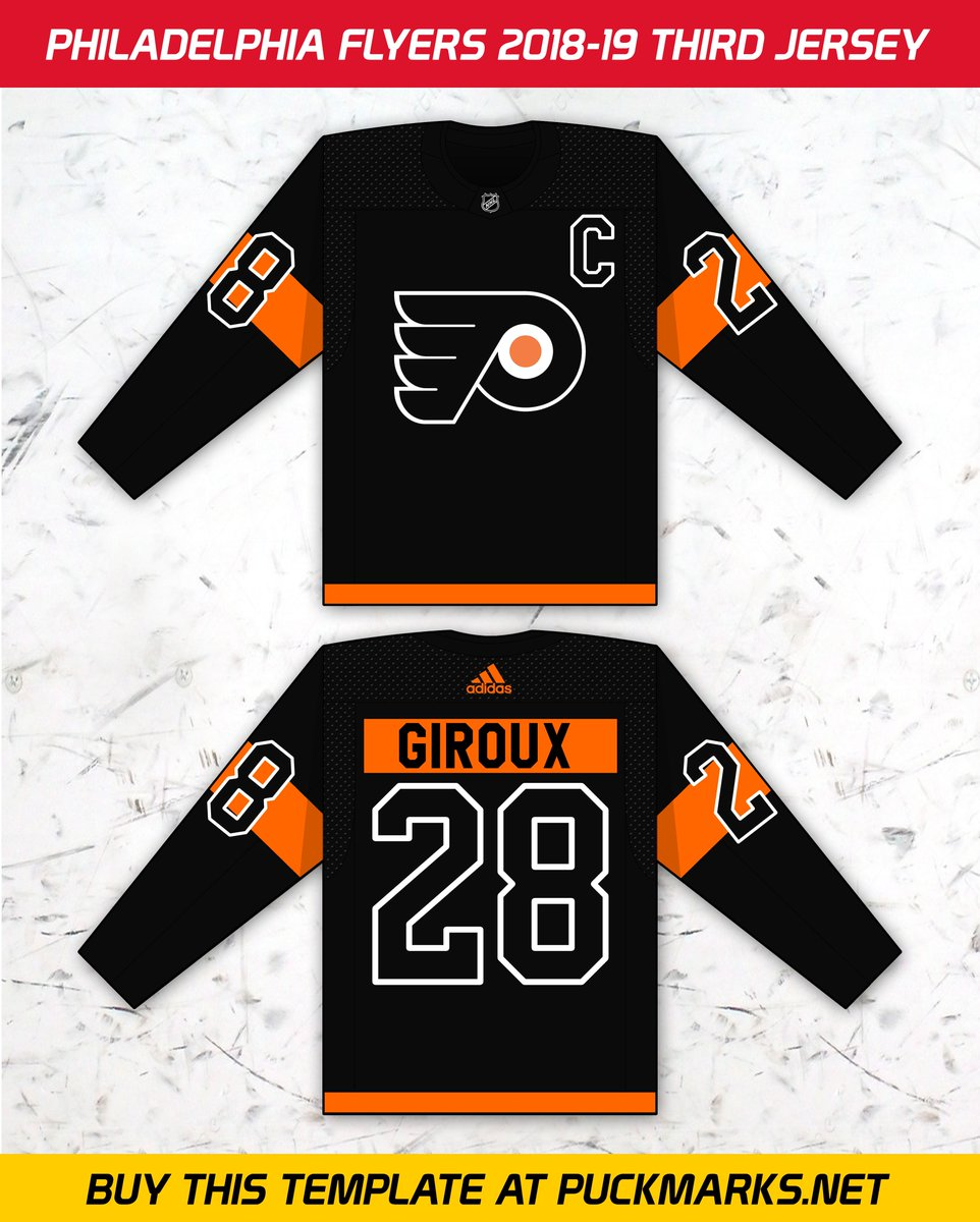 ... the new third jerseys at https   buff.ly 2HaR5VS Buy this jersey  template at https   buff.ly 2sTL4Zp  philly  philadelphia  jerseys  nhl   hockey  adidas ... 73104793f