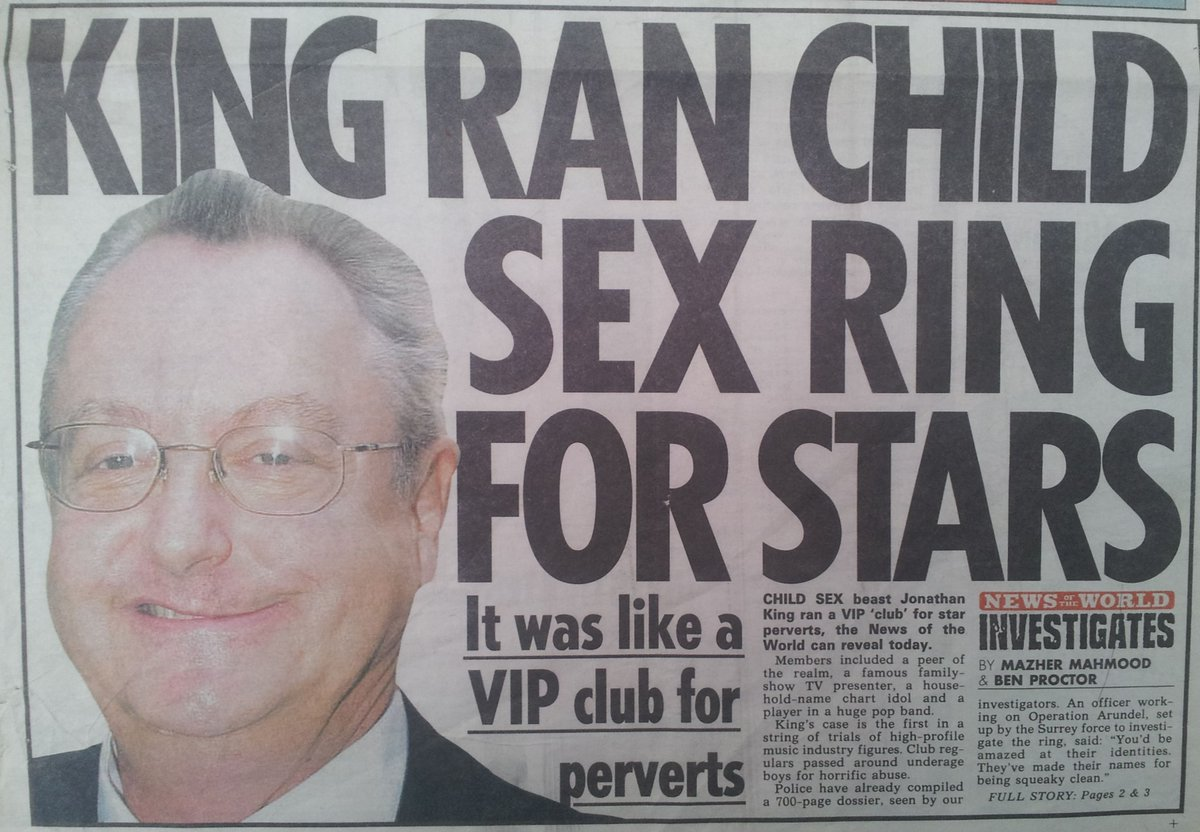 KING RAN CHILD SEX FOR STARS News Of The World 25 11 01