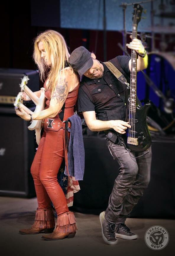 With @LitaFord last weekend in Dallas, Texas at @LavaCantinaTC! Photo by The Colony Magazine. @OfficialSpector #SpectorBass