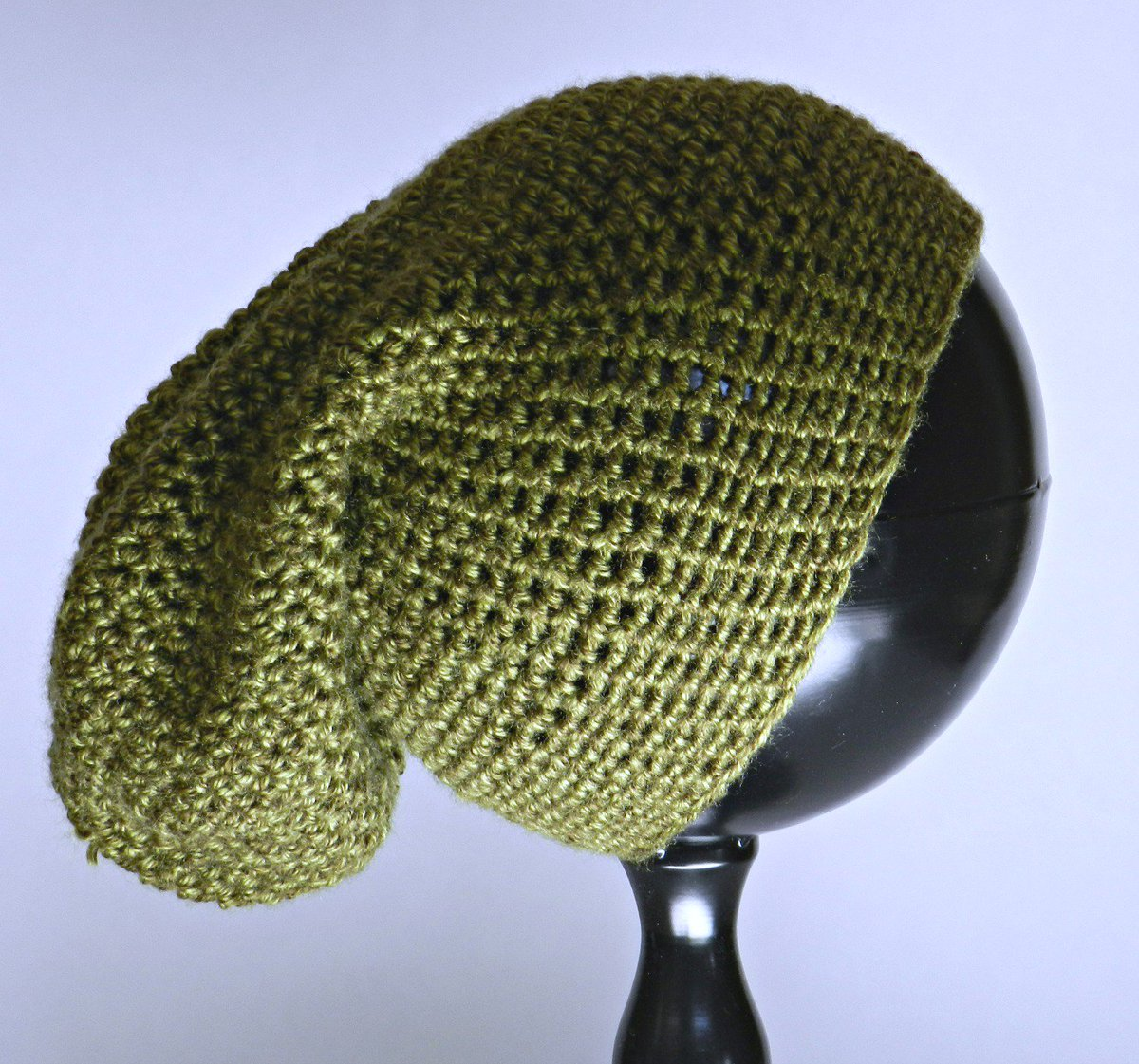 Excited to share this slouch hat from my etsy shop  Olive Green Crocheted Slouchy  Beanie https   etsy.me 2y6bTin  cozyatoz  olivegreenhat  slouchybeanie ... 0675370af07a