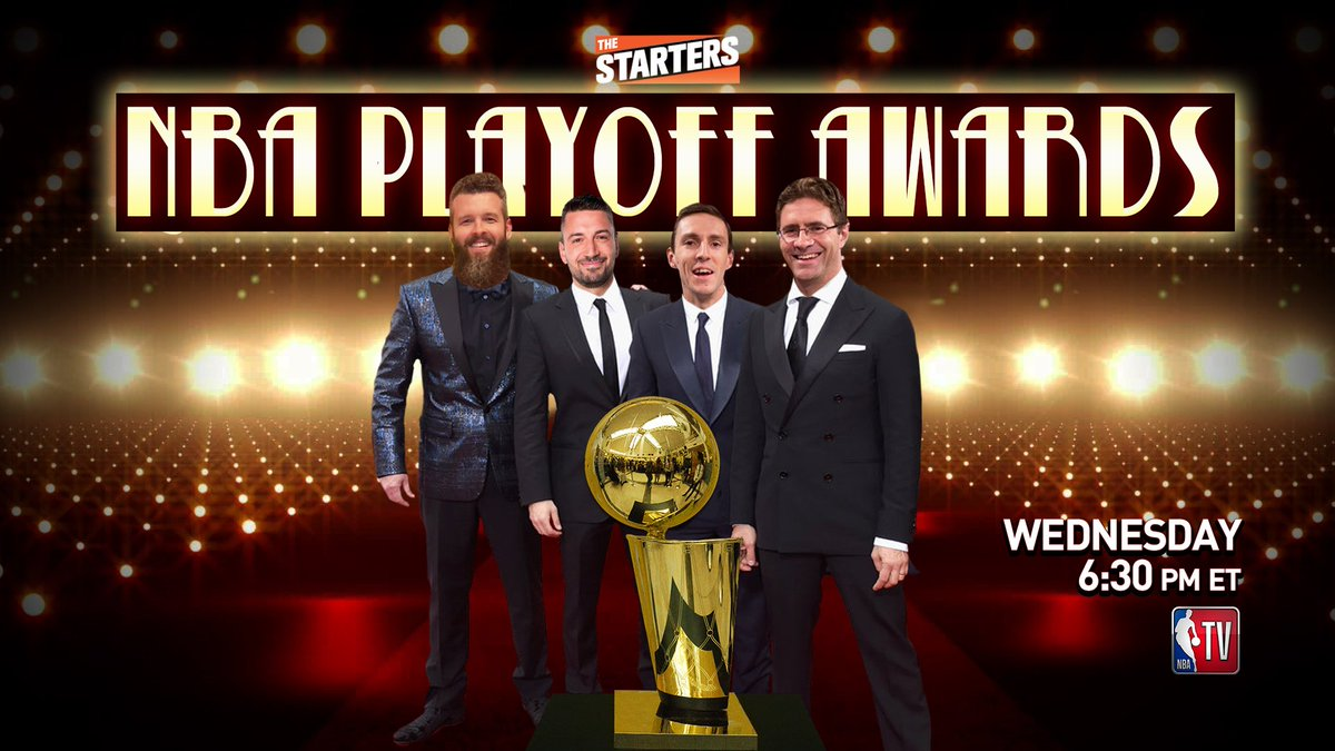#TheStarters Playoff Awards show, live on @NBATV tonight at 630pm ET!