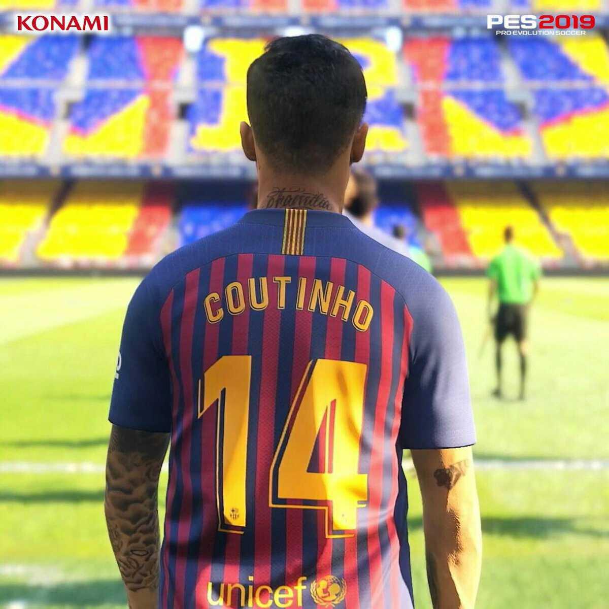 Pes 2019 Coutinho Stats   Pro Evolution Soccer