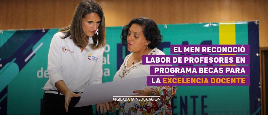 El MEN reconoció labor de profesores en programa Becas para la Excelencia Docente - UNAB