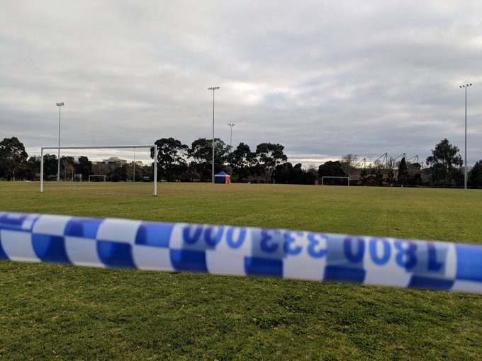 19 year old man charged with rape and murder of a woman whose body was found in a Carlton North soccer field. @SkyNewsAust Photo