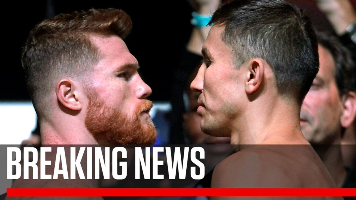 Breaking: Gennady Golovkin and Canelo Alvarez agree to fight September 15 in Las Vegas, says Oscar De La Hoya.