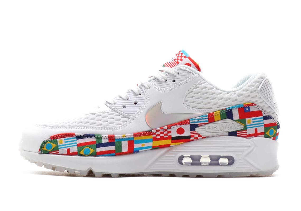 1921ea16042 ... the Air Max Plus dressed in white and covered with country flags.  Available 3AM EST tonight at http   Nike.ca with free shipping.