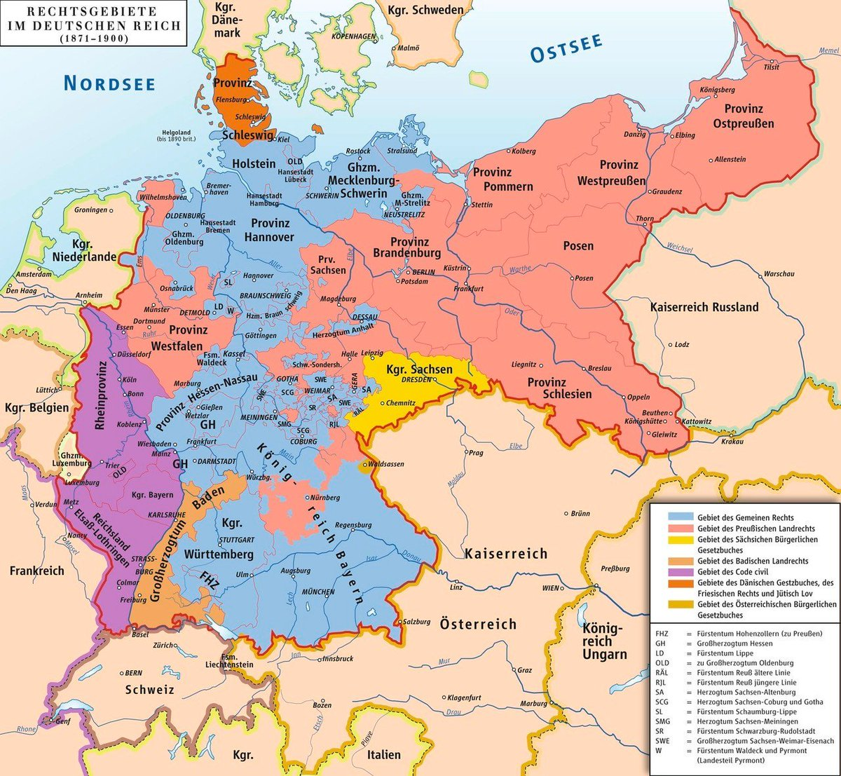 Map Of Germany 1871.Simon Kuestenmacher On Twitter Germany First Became A Nation In