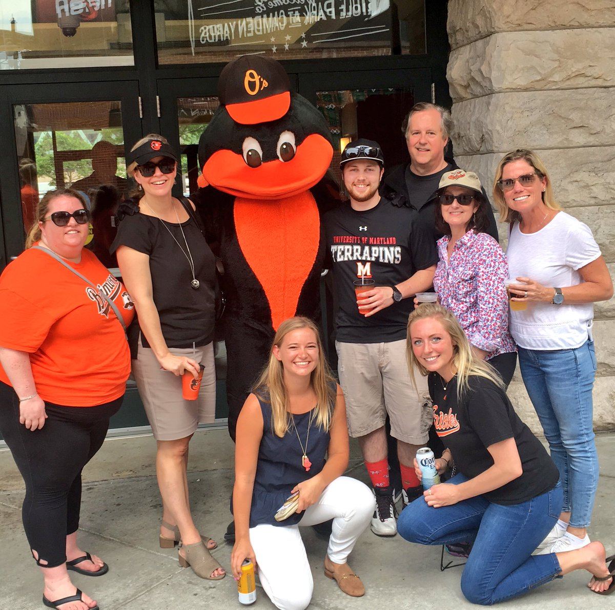 Van Eperen team with the Orioles Bird