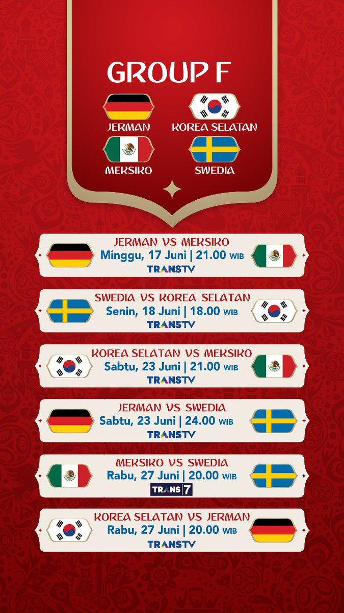 Jadwal Pertandingan Penyisihan Grup F Piala Dunia 2018