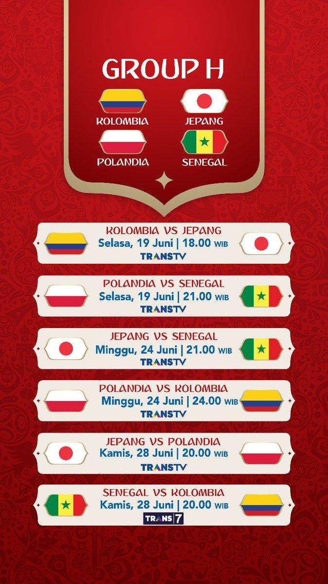 Jadwal Pertandingan Penyisihan Grup H Piala Dunia 2018