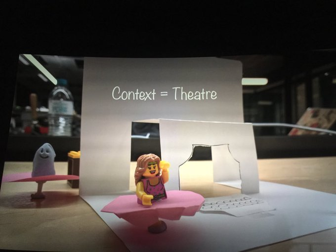 Context is Theatre. Nice opening keynote by @teaelleu here at #CreativeState Photo