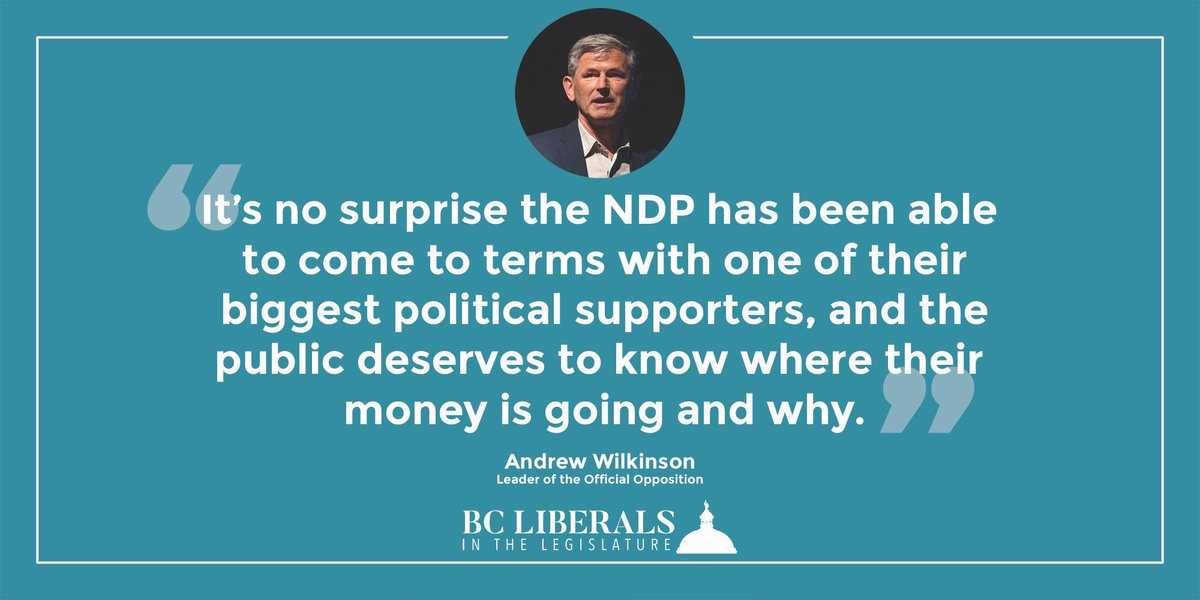 Andrew Wilkinson On Twitter The Bc Government Has Reached A