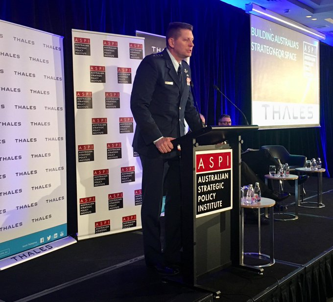 Lt Gen David Thompson says that more important than geography in our region is the nature and character of Australia as a force for peace and stability, and this applies also to Australia in space #ASPISpace Photo