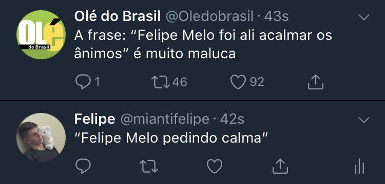 Olé Do Brasil On Twitter A Frase Felipe Melo Foi Ali