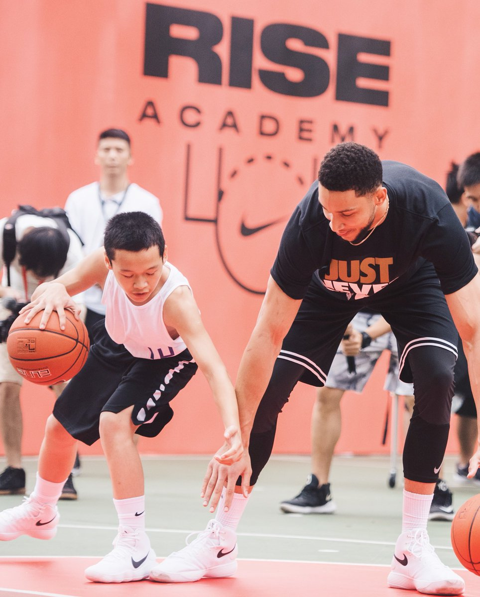 .@BenSimmons25 inspiring kids in China with @nikebasketball