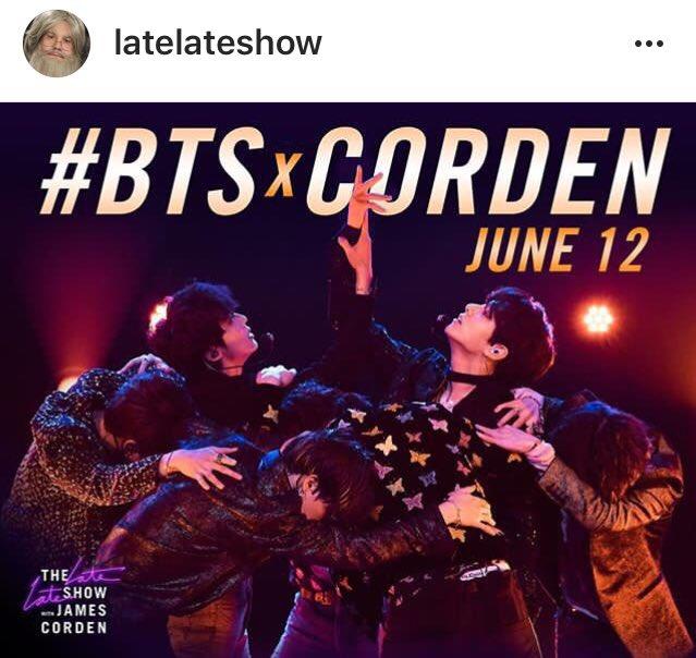 The late late show instagram  http:// instagram.com/p/Bj9EwdhnvnN/     #BTSxCorden @BTS_twt  #5thFlowerPathWithBTS #BTS5thAnniversary<br>http://pic.twitter.com/pp85cfBGan