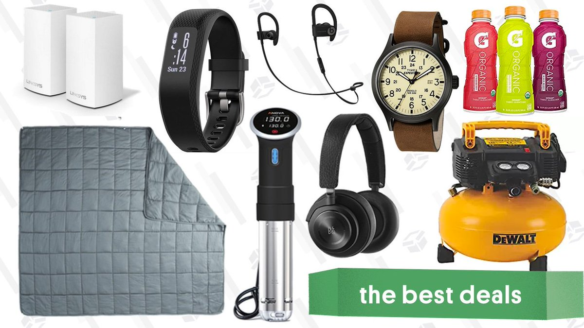 c12f476f96d Save big on a 20-pound weighted blanket, wireless Beats earbuds and  over-ear headphones, a mesh Wi-Fi router, and more of today's best deals.  ...