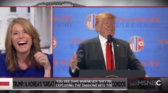 WATCH: MSNBC host cracks up listening to Trump talk about putting hotel in North Korea https://t.co/SfsmqIDupn https://t.co/80jM3obhpx