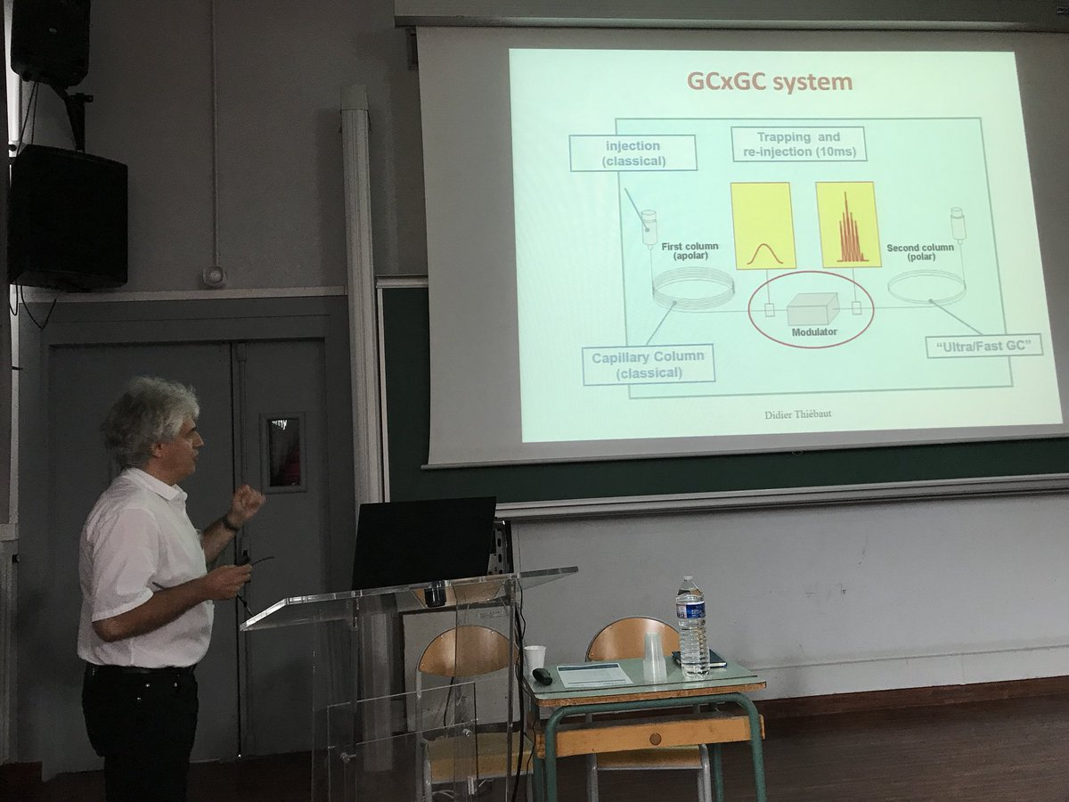 The @SepSolve seminar at ESPCI is underway with an introduction to GCxGC from Didier Thiébaut