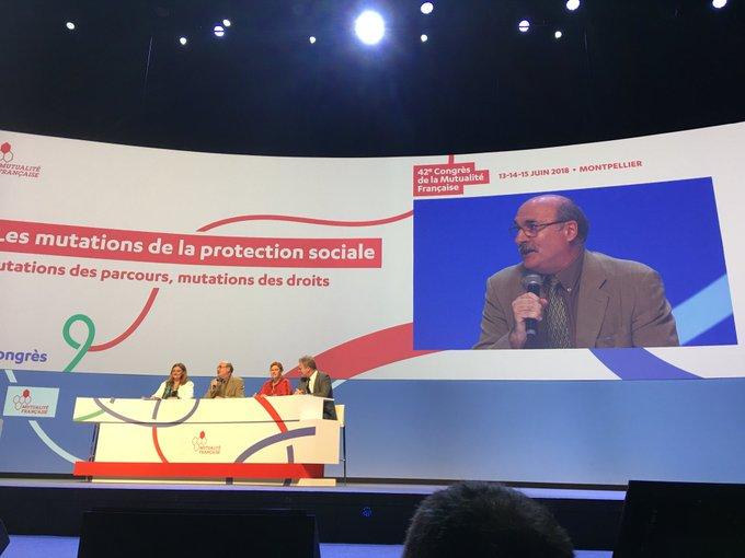 @UNSA_officiel, son secrétaire général, Luc Berille, participe à la seconde table ronde du #MutCongres @mutualite_fr sur les «mutations des parcours, mutations des droits». Photo