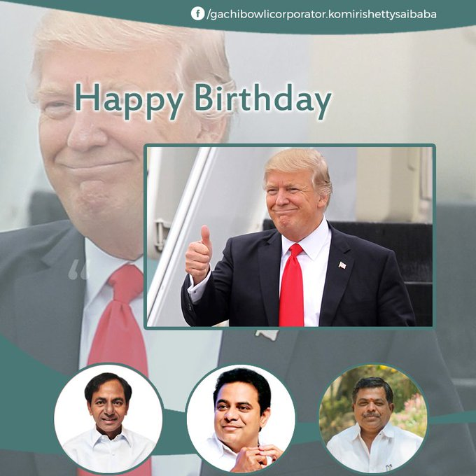 We wish you a very Happy Birthday to president of America Donald Trump.