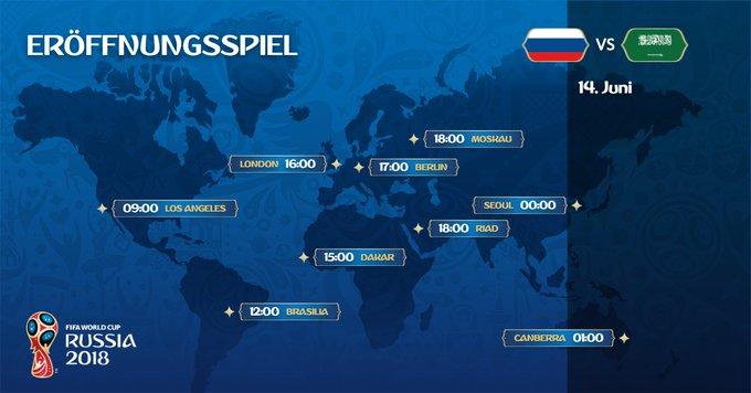 Wo startet wann das Eröffnungsspiel 👇🏻 Live-Blog: #WM2018 #RUSKSA Foto